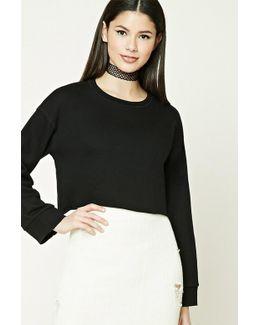 Raw-cut Cropped Sweatshirt