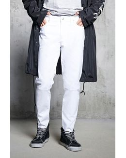 Frayed Slim-fit Jeans
