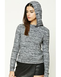 Marled Fleece Hooded Top
