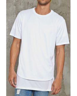 Perforated Jersey Tee