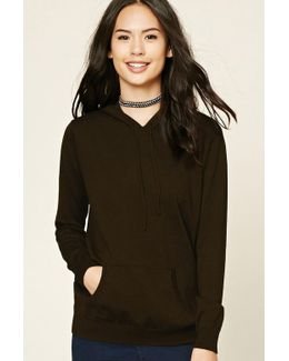 Sweater Knit Hoodie