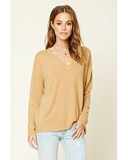 Boxy V-neck Sweater