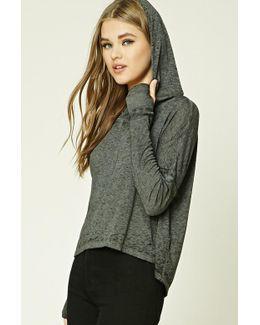 Slub Knit Hooded Sweater