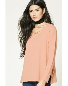 Strappy Cutout Sweater