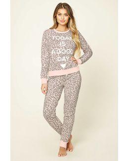 Cheetah Print Pyjama Set