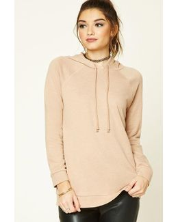 French Terry Longline Hoodie