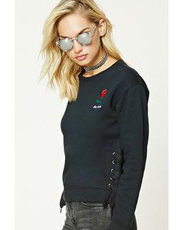 Bad Habits Lace-up Sweatshirt