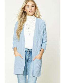 Ribbed Knit Sweater Cardigan