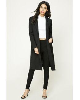 Longline Pinstripe Coat