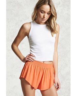 Smocked Woven Shorts