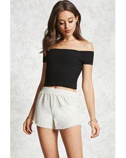 Frayed Linen Shorts