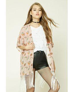 Floral Tasseled Kimono