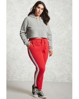 Plus Size Striped Sweatpants