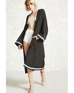 Varsity Stripe Longline Kimono