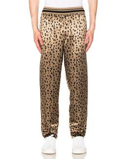 Reversible Cropped Elastic Waist Pajama Pant