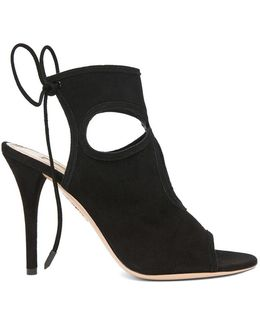 Sexy Thing Black Suede Sandals - Size 3