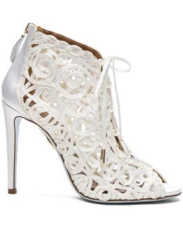 Satin Lattice Kya Bridal Booties