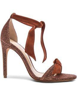 Suede And Metallic Fabric Clarita Heels