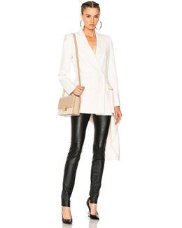 Light Wool Silk Double Breasted Blazer