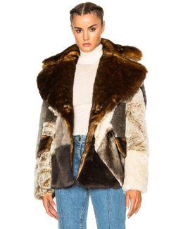 Patchwork Faux Fur Jacket