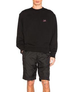 Girls Embroidered Crewneck Sweatshirt
