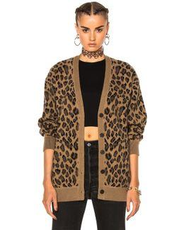 Leopard V Neck Cardigan