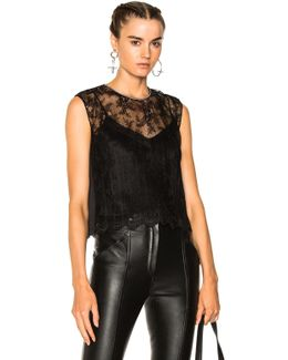Chain Trim Lace Top