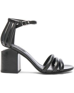 Cage Leather Abby Sandals