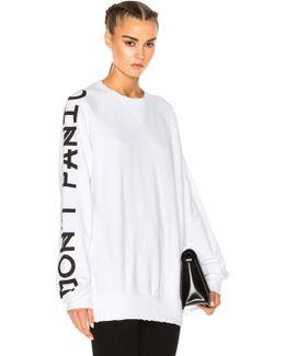 French Terry Graphic Sleeve Sweatshirt