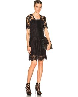 Chantilly Lace Dress In Black