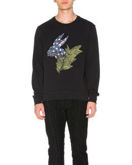 Rabbit Flock Print Sweatshirt