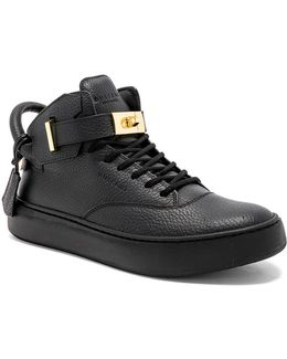 100mm Leather Mid Alce Sneakers