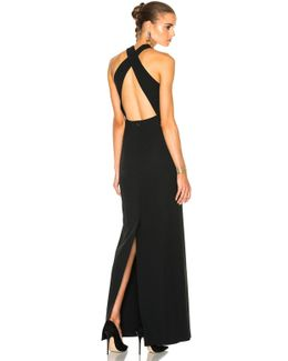 Kaye Long Cross Back Evening Dress