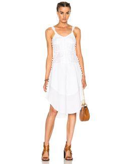 Light Cotton Voile Button Detail Sleeveless Dress