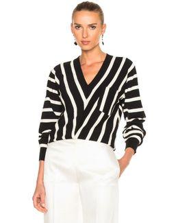 Sailor Stripe V-neck Sweater