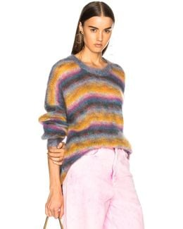 Striped Brushed Mohair Sweater