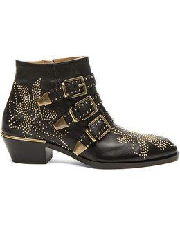 Susanna Leather Studded Booties
