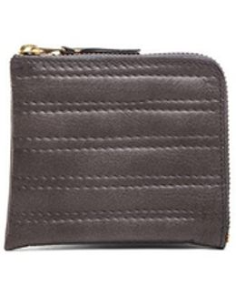 Embossed Stitch Small Zip Wallet