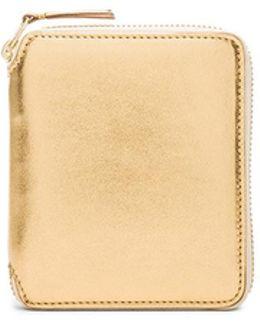 Gold Line Zip Wallet