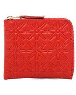Star Embossed Small Zip Wallet