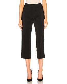 Stretch Cady Cropped Pants