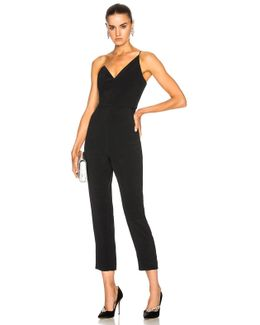One Shoulder Cropped Sleeveless Jumpsuit