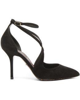 Strappy Suede Belucci Heels