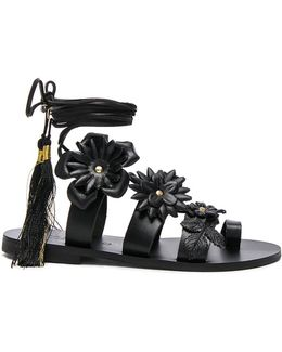 For Fwrd Leather Lace Up Sandals