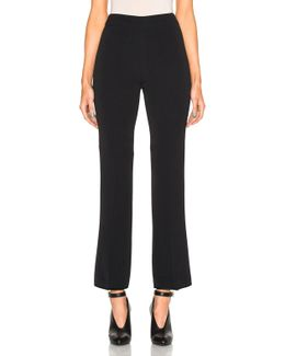 Cropped Flare Cady Trousers