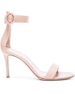 Leather Ankle Strap Heels