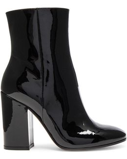 Patent Leather Rolling High Booties