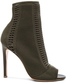Knit Booties In Army