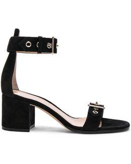 Suede Buckle Detail Sandals