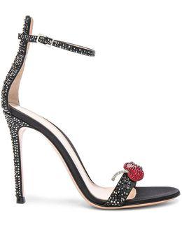 Crystal Embellished Ankle Strap Sandals